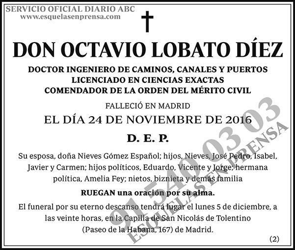 Octavio Lobato Díez